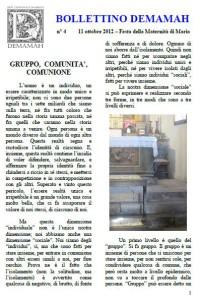 Bollettino n° 4 copertina