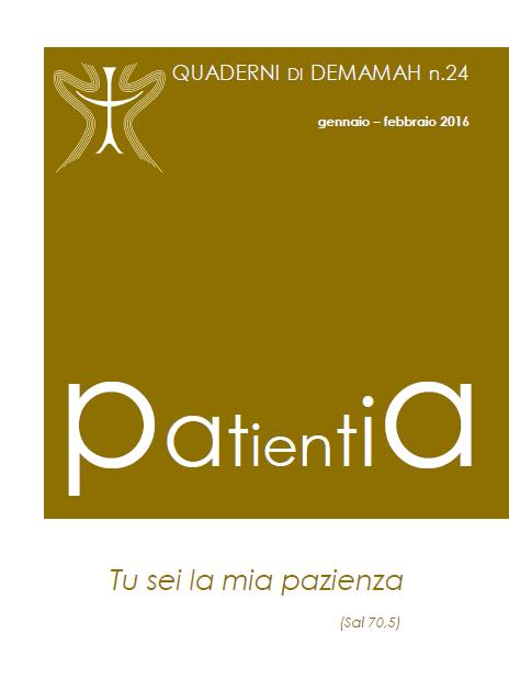 Patientia copertina